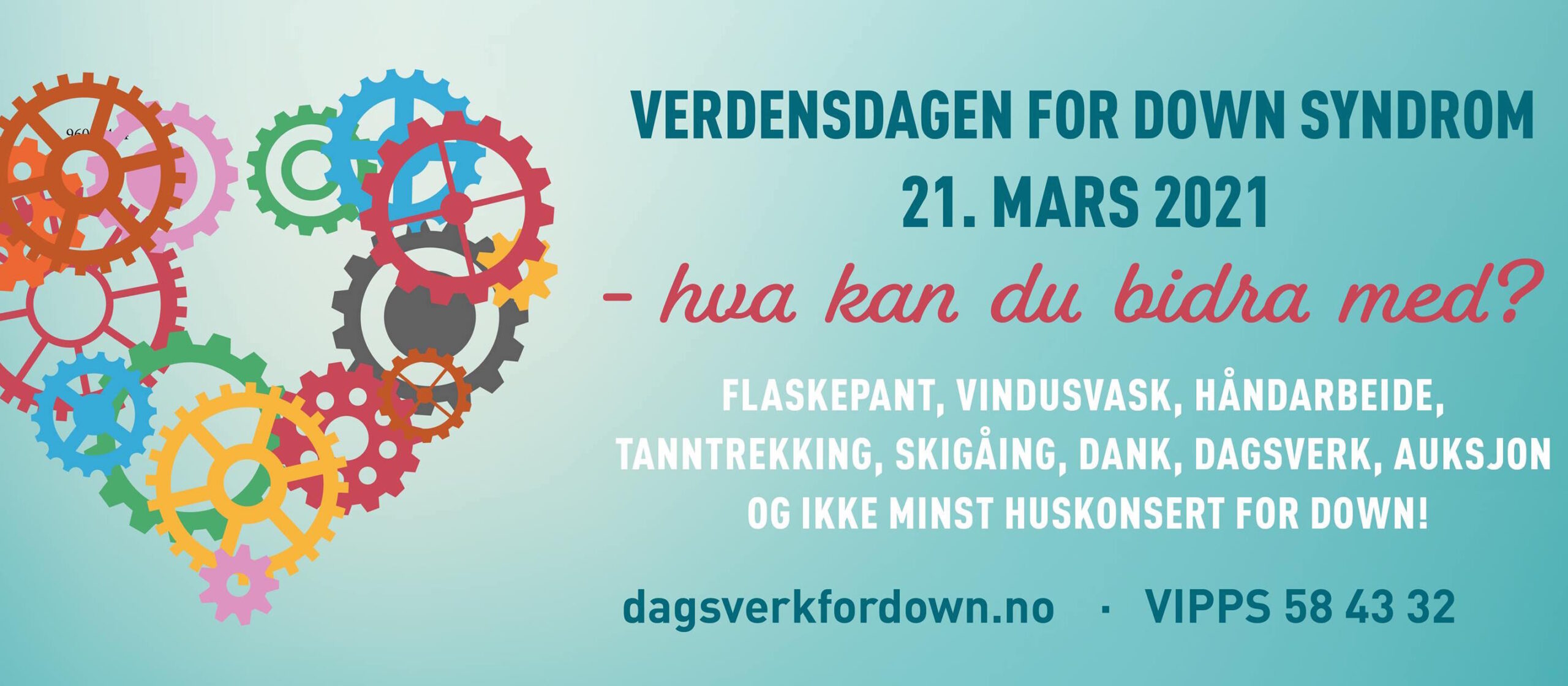 Dagsverk for Down-banner